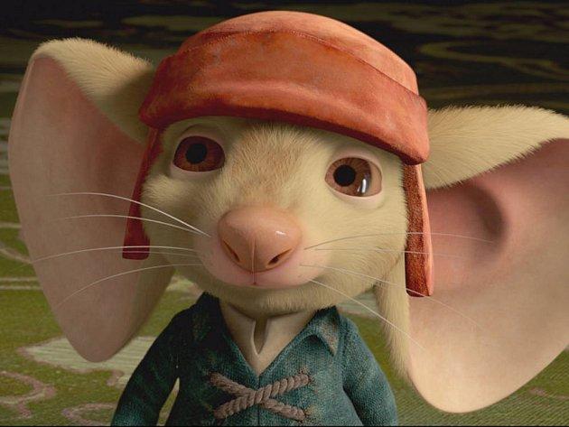V Příběhu o Zoufálkovi nezachraňuje princeznu sličný princ, ale myš s velkýma ušima.