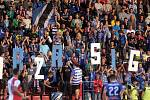 Fanoušci Sigmy na Andrově stadionu při zápase se Slavií