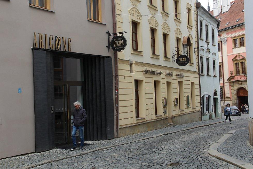 Hotel a penzion Arigone v centru Olomouce. Květen 2021