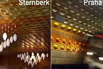 Obklady ve šternberském Městském klubu a ve stanici metra Hradčanská