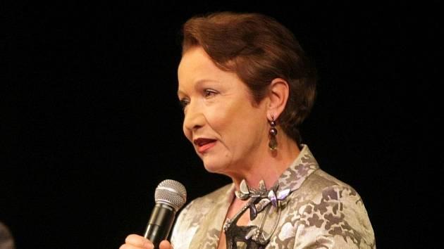 Hana Maciuchová na předávání Cen města Olomouce za rok 2009 v Moravském divadle