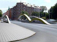 Schválený finální návrh nového mostu na Masarykově třídě v Olomouci