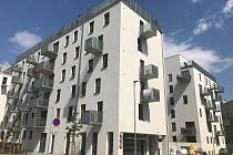 Ceny bytů v Olomouci neklesají. Poptávka po těch nových neutuchá, i když ceny jsou vysoké.Na snímku jeden z developerských projektů ve Wolkerově ulici.
