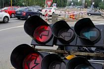 Výměna semaforů na průtahu Olomoucí. Ilustrační foto
