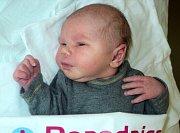Pavel Čunderle, Pňovice, narozen 1. dubna, míra 51 cm, váha 3530 g