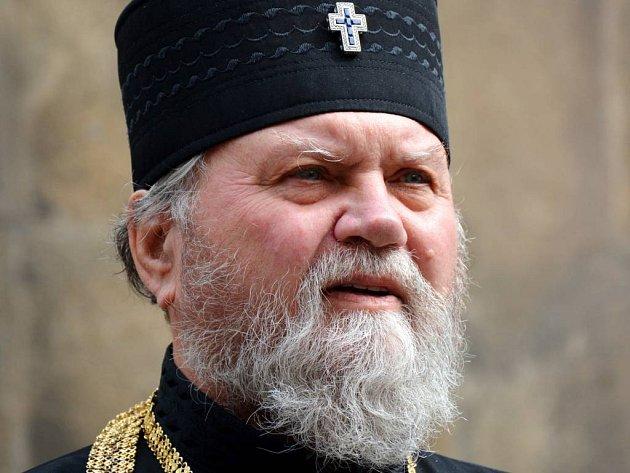 Arcibiskup pravoslavné církve v ČR Michal Dandár.