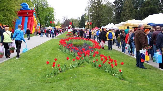 Jarní Flora v Rudolfově aleji. Ilustrační foto