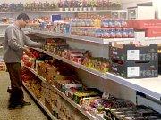 Nově otevřená prodejna potravin ve Městě Libavá, funguje je tam jako jediná.