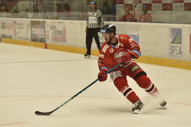 Hokejová extraliga HC Olomouc - Plzeň. David Krejčí