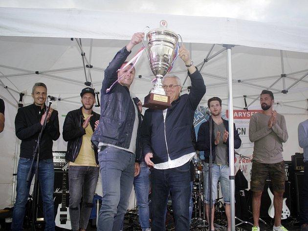 Fotbalisté a členové realizačního týmu se setkali na akci Kučova pětka, aby si připomněli pět let od vítězství Sigmy Olomouc v Českém poháru