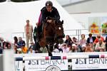 Vítěz Federico Ciriesi (It.) a Calida 46. Světový pohár v jezdeckém areálu Equine Sport Centre v Olomouci
