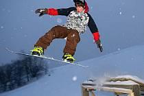 Snowboard park na sjezdovce v Domašově nad Bystřicí