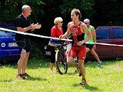 Mistrovství Olomouckého kraje v terénním triatlonu v Dolním Žlebu u Šternberka.