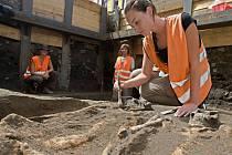 Archeologický průzkum na Dolním náměstí v Olomouci