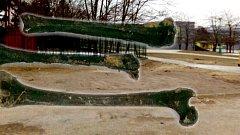 Kosti, které vyplavila voda po havárii potrubí na Nové Ulici