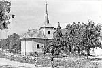 Fotografie luběnické kapličky z roku 1958