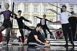 Baletní trénink na Horním náměstí v Olomouci, 18. 6. 2020