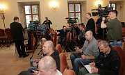 Závěrečná tisková konference návštěvy prezidenta Zemana v Olomouckém kraji