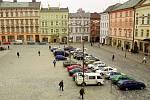 Leden 2001. Horní náměstí ještě bez Arionovy kašny