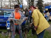 Řada účastníků nečekala až příjdou domů a do čtení novin se pustili rovnou.