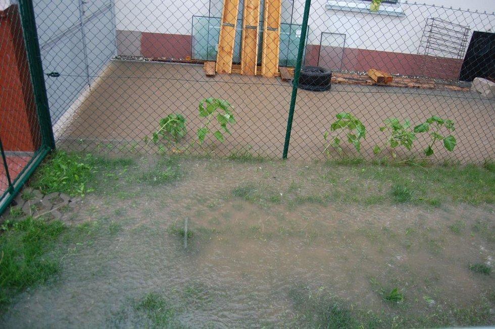 30.7. 2014. Přívalový déšť v Olšanech u Prostějova