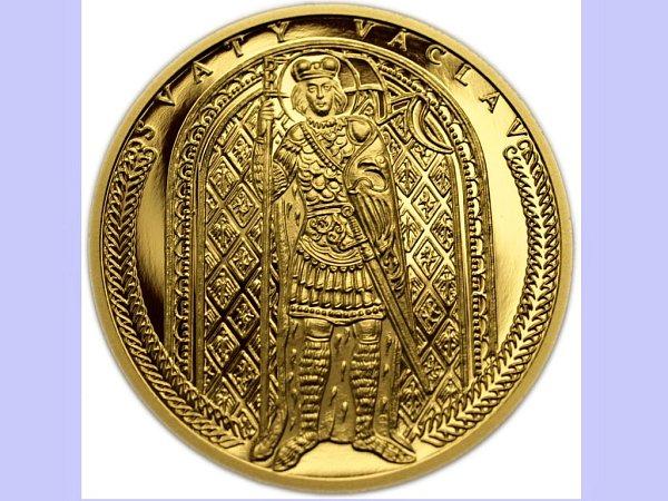 Dukát se svatým Václavem zprodukce společnosti Zlaté mince – numismatika