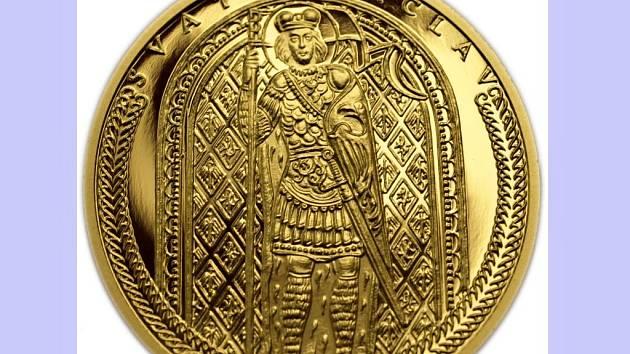 Dukát se svatým Václavem z produkce společnosti Zlaté mince – numismatika