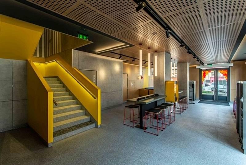 Nová restaurace a kavárna McDonald´s v budově bývalého kina Mír v centru Olomouce.