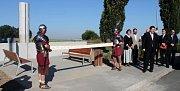 Slavnostní odhalení římského milníku v olomoucké čtvrti Neředín