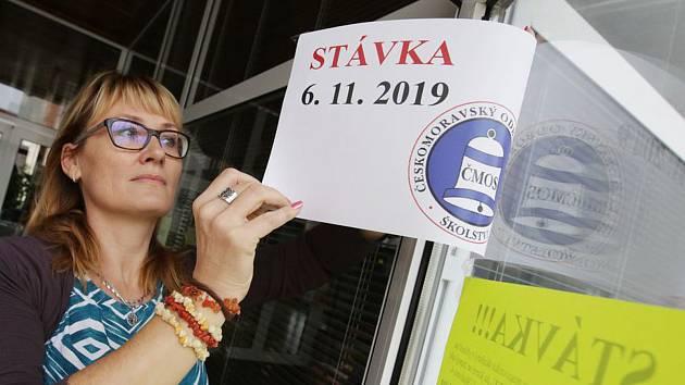 Stávka učitelů 6. listopadu 2019. Ilustrační foto
