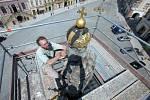 Rekonstrukce Mariánského sloupu na olomouckém Dolním náměstí