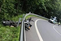Nehoda motorkáře na Ecce Homo