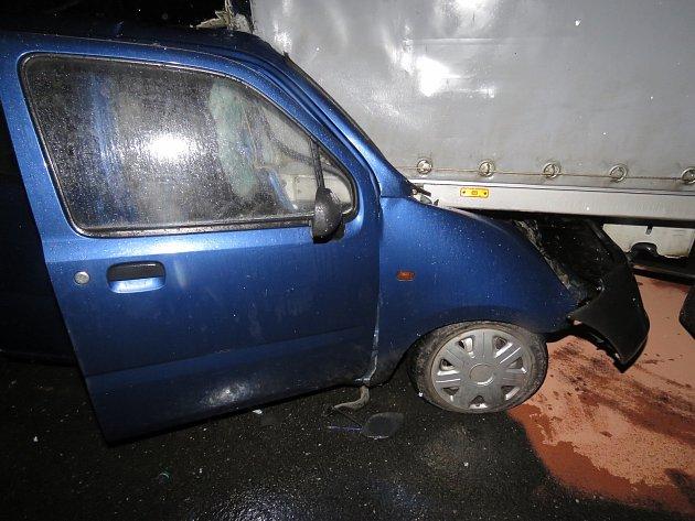 Nehoda u Studené Loučky u Mohelnice.