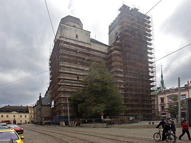 Kostel Svatého Mořice na začátku října 2018