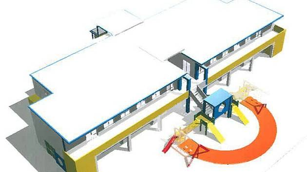 Vizualizace nové mateřské školy na Světlově ve Šternberku