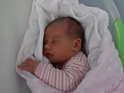 Eliška Vančurová, Prostějov, narozena 6. ledna, míra 51 cm, váha 3760 g