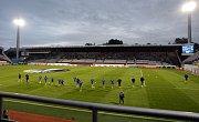 Andrův stadion před zápasem Evropské ligy mezi Zlínem a Tiraspolem