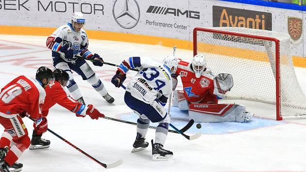 Hokejisté Komety sehráli třetí zápas Generali Česká Cupu proti Olomouci.