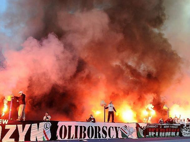Fans Legie Varšava na finále Polského poháru