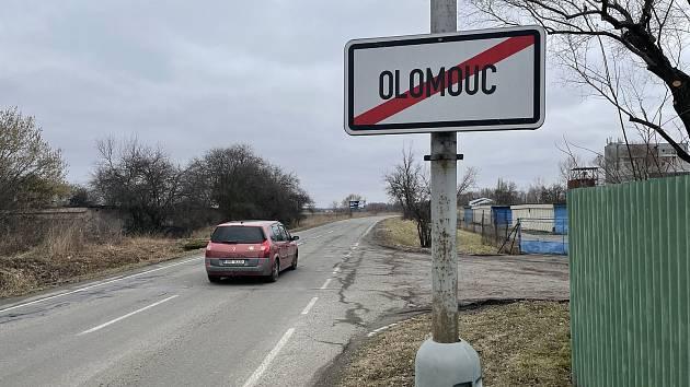Konec Olomouce, směr Poděbrady a Horka nad Moravou, 1. března 2021