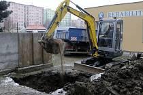 Havárie vodního řádu na ulici Jílová  v Olomouci.
