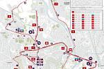 Olomoucký půlmaraton 2017 - trasa závodu