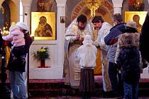 Vánoční bohoslužba v olomouckém chrámu sv. Gorazda