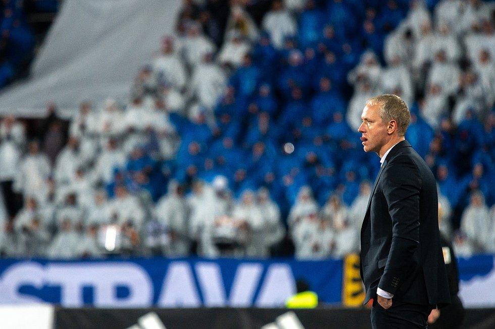 Trenér Sparty Václav Jílek v zápase s Baníkem Ostrava