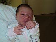 Nicole Halašková, Olomouc, narozena 11. června, míra 50 cm, váha 3700 g