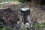 Zabezpečení vstupu do podzemí ve Smetanových sadech v Olomouci