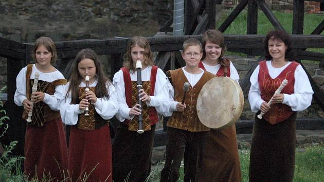 Soubor zobcových fléten Flauto Giocoso z Modřan.