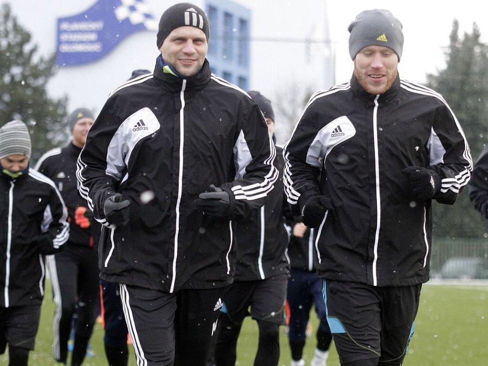 Adam Varadi, Jan Schulmeister. Fotbalisté Sigmy zahájili přípravu na jarní část FNL