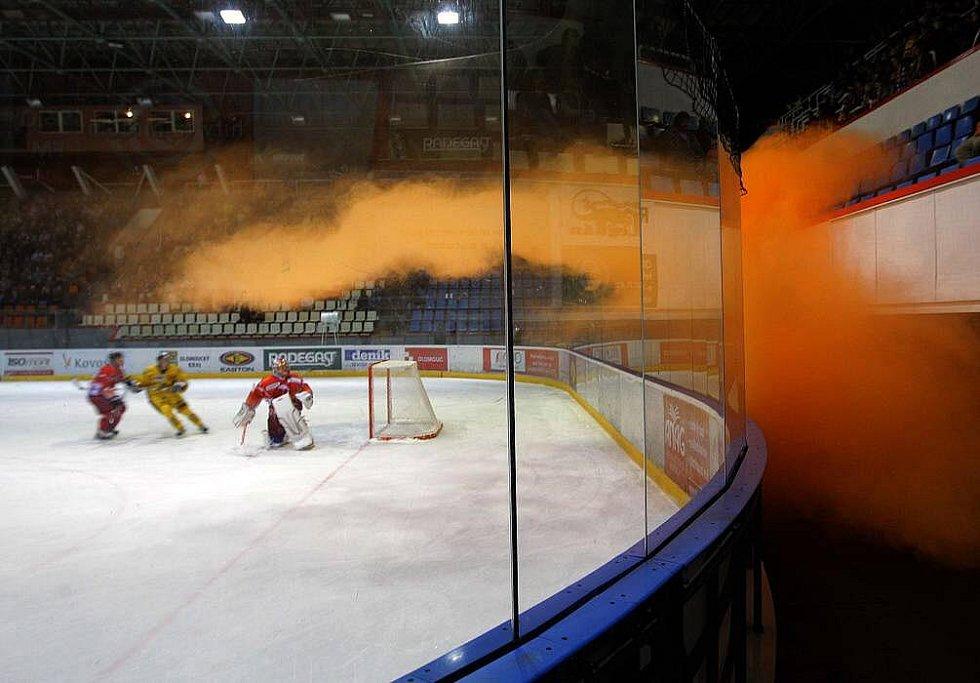 Kouřové efekty na derby Olomouc vs. Šumperk
