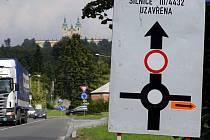 Uzavírka silnice na Svatý Kopeček